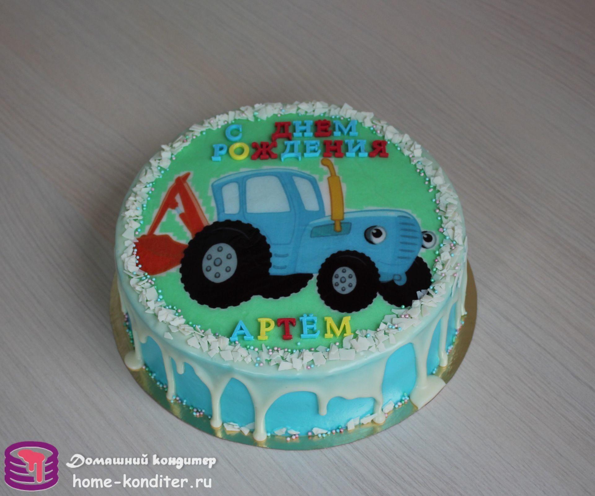 торт в виде трактора фото