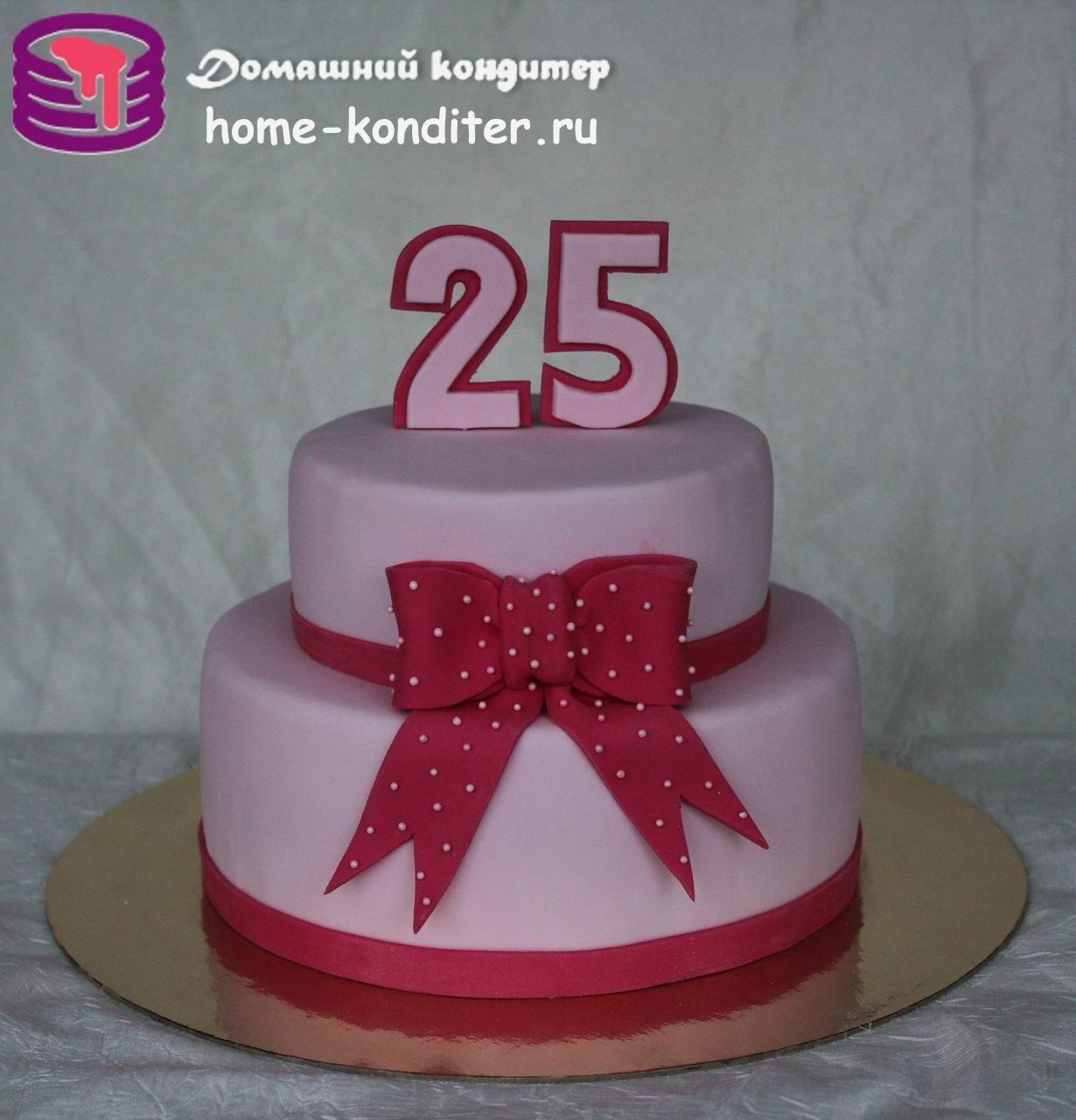 Торты на день рождения 25 лет девушке фото